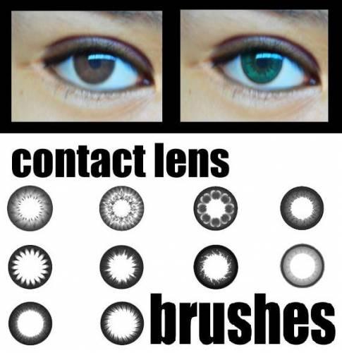 Photoshop kontakt lens fırça seti