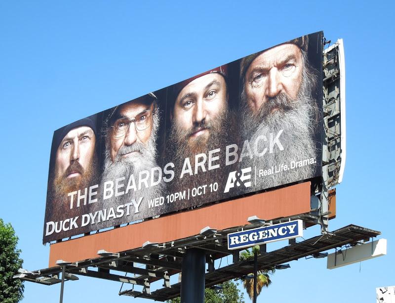 Duck Dynasty Beards are back 2 billboard