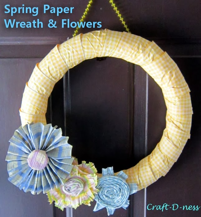 Sunny Spring Paper Wreath & Flowers