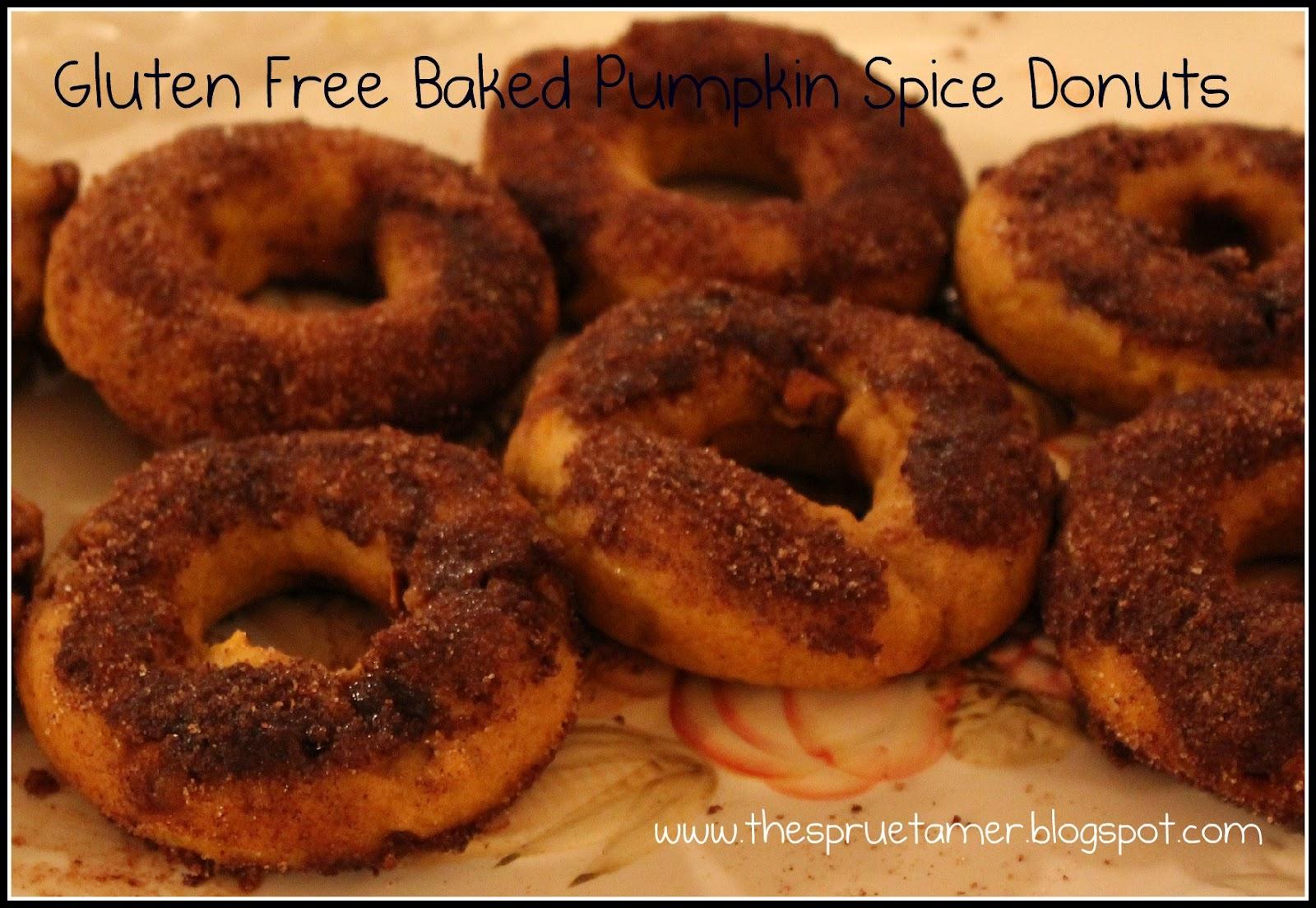 Taming of the {celiac} Sprue: Gluten Free Baked Pumpkin Spice Donuts
