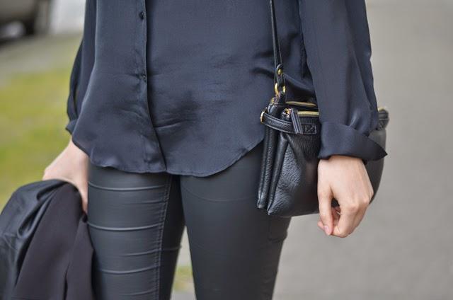 chemise en soie noir zara