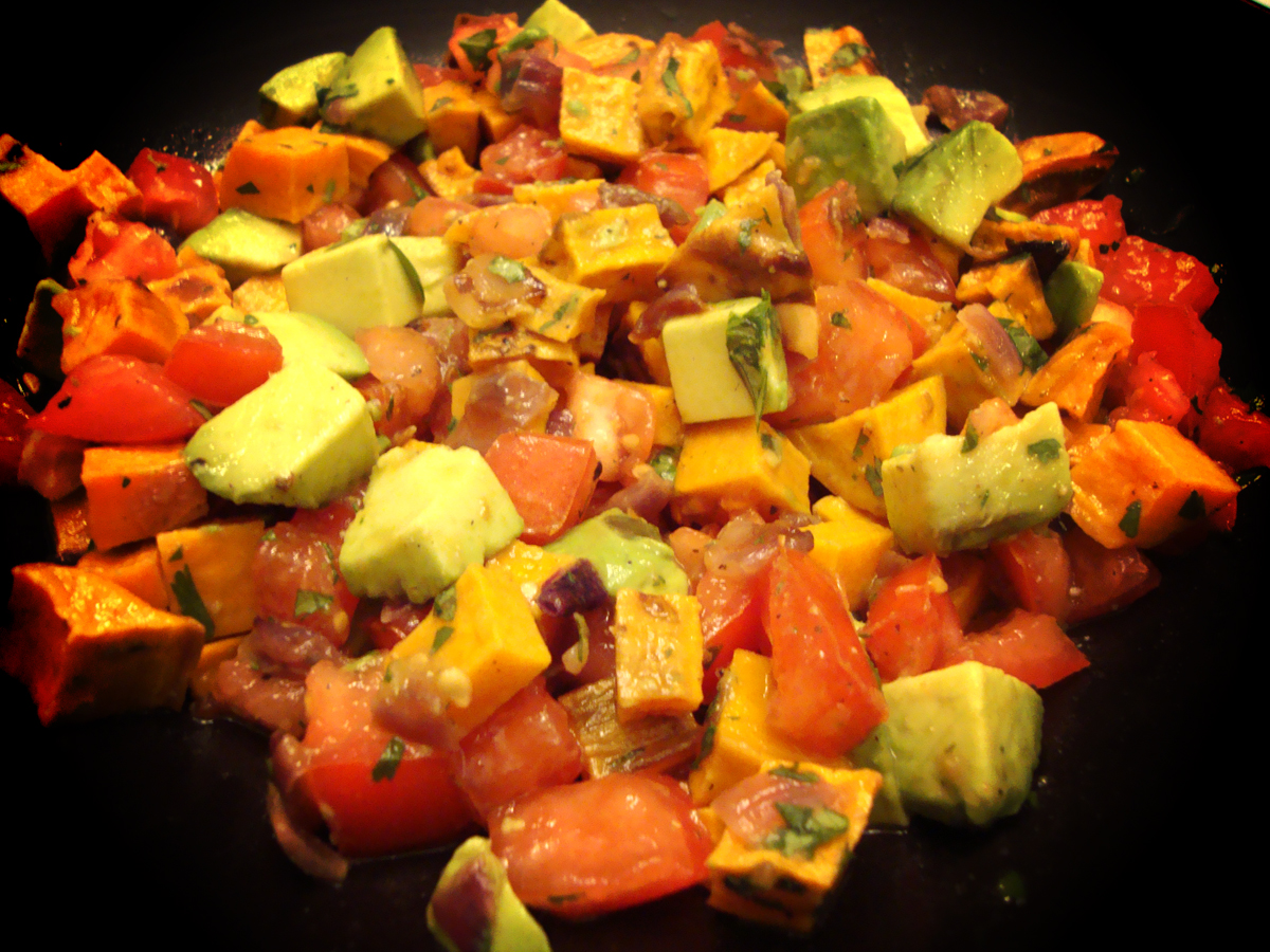 my back pages: roasted sweet potato salsa