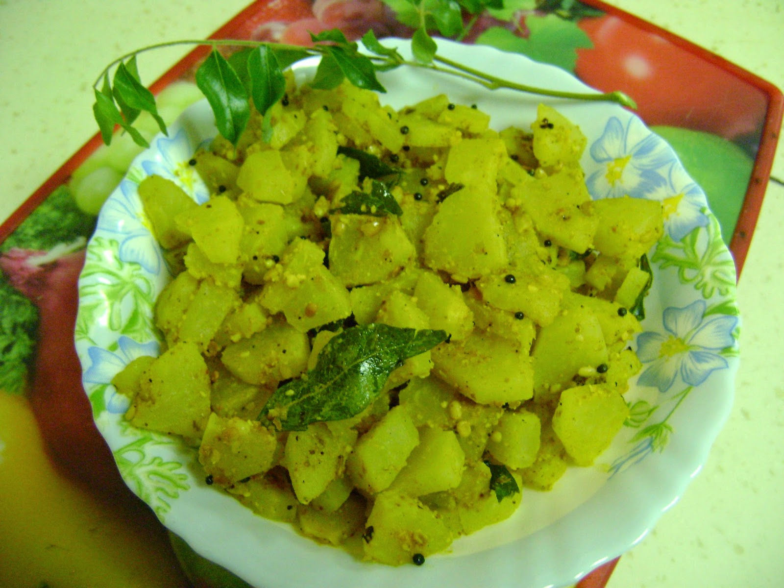 Bethica's Kitchen Flavours: Green Papaya Curry - Andhra Style