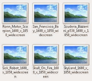 Tampilan Gambar Di Komputer Hanya Gunung