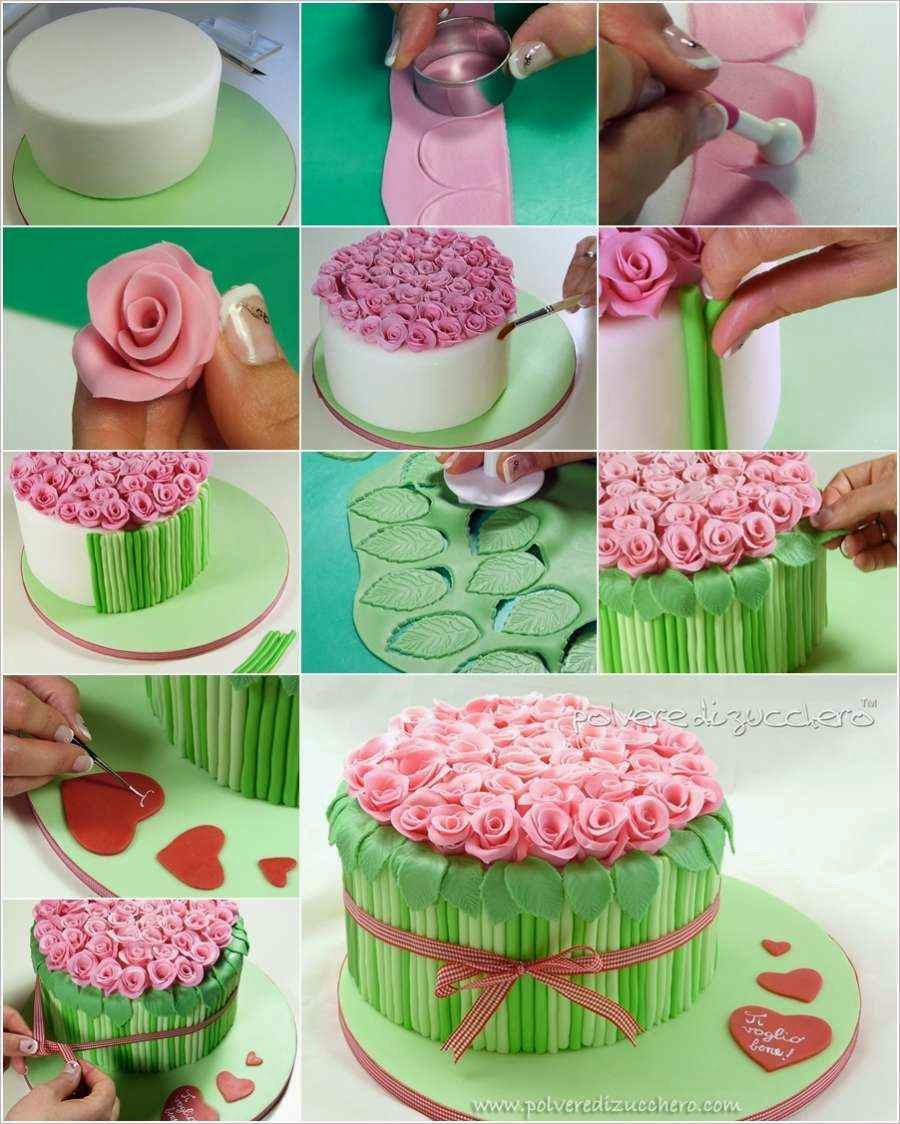 Bouquet Of Roses Cake Decor Tutorial Creative Ideas