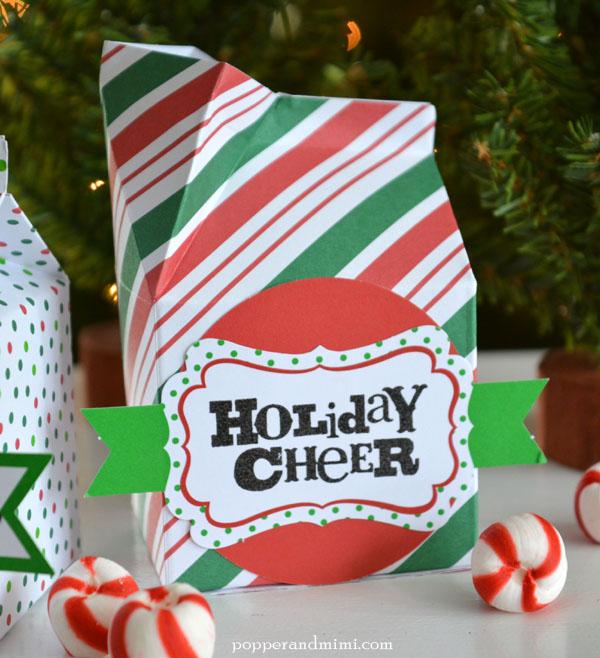 Popper and MimiMilk Carton and French Fry Box Christmas Treat