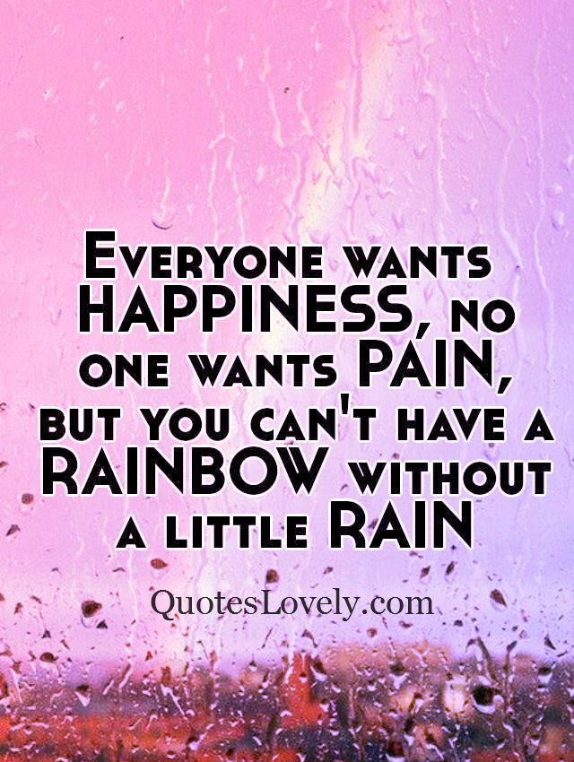 Everybody wants happiness