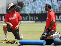 Yuvraj Singh with Sachin Tendulkar