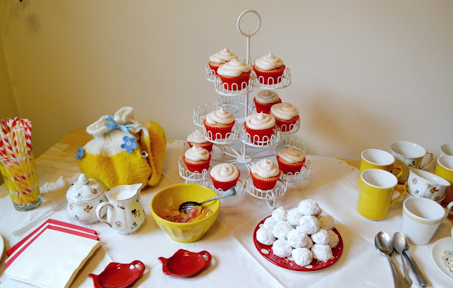tea party, diy, baking, villeroy and boch, cupcakes, fleur d'elise, cupcakes