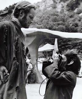 La foto de Charlton Heston en El planeta de los simios