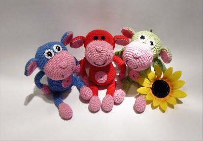 väike-ahv-amigurumi-heegeldatud-juhend-pattern-punane-roheline-roosa-sinine-ahviaasta-puuvillane-loomad-pehme mänguasi-pärdik-monkey-stuffed-toy-cotton-animal