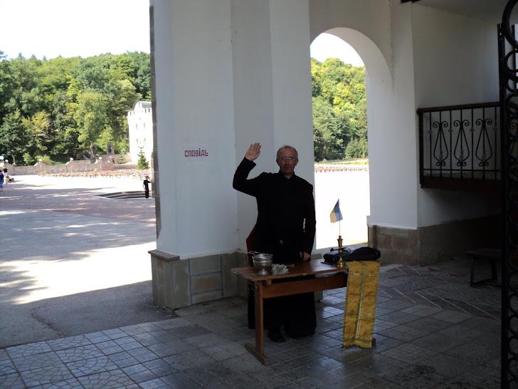 20 річницю дня незалежності ієрей Тарасій зустрів на своєму постійному робочому місці