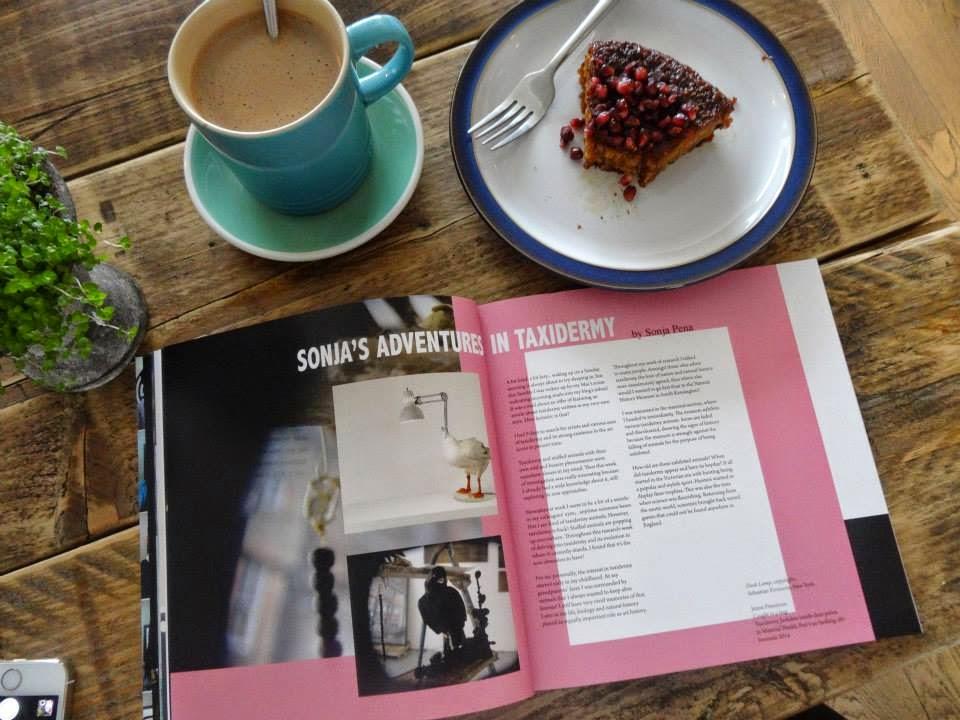 No barking art magazine Sonja's adventure