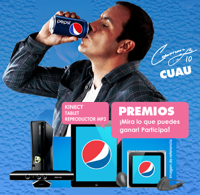 premios Ipod Shuffle 2GB, Ipod Multitouch Nano 8GB, XBOX + Kinect, Ipad 16GB WiFi concurso Pepsi vs Pecsi Mexico 2011