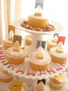 Cupcake decorado para festa Junina