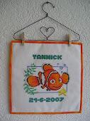 Geboortelap Yannick.