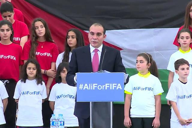 Ali Bin Al Hussein confirma candidatura à Fifa cerca de três meses após ser derrotado por Blatter (Foto: Reprodução)