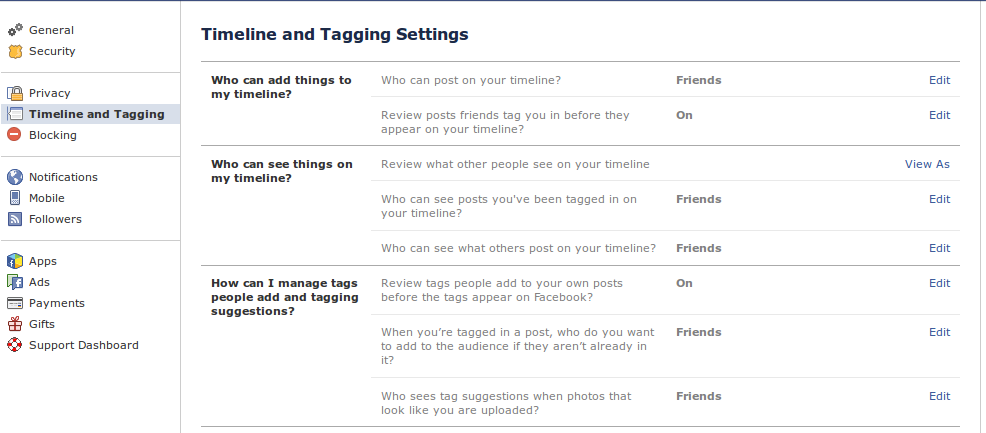 timeline review settings in facebook Make your Facebook SPAM free