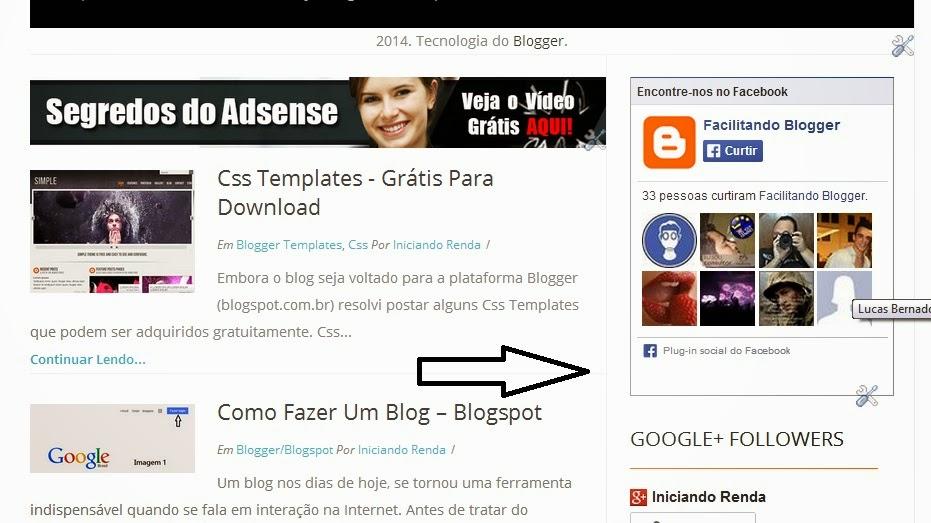 Gadget Facebook para Blogger #12