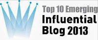 Winners: Top 10 Emerging Influential Blogs 2013
