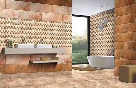 Design A Home Amarillo Rust Wall Tiles From Kajaria