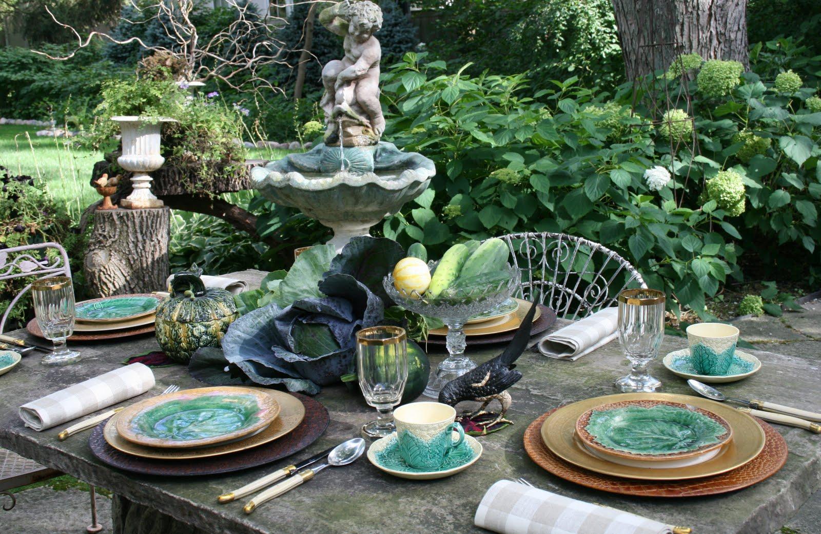 Romancing the Home Ve able Garden Table Design
