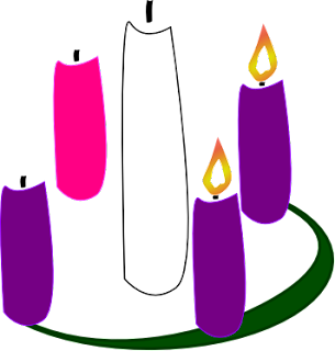 Advent wreath 2 candles lit