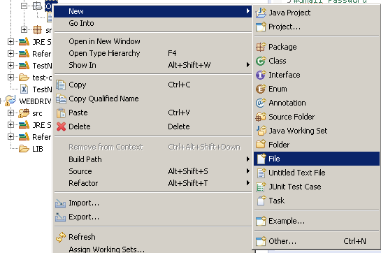 Create new file in eclipse