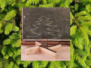 Stojak na świąteczną choinkę – pomysł z desek