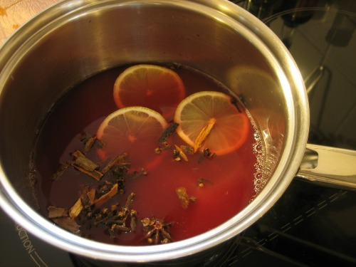 mulled wine in a pot - our handmade home
