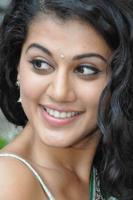 tapsee in shadow movie fame green saree ,