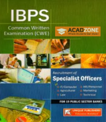 IBPS CWE Recruitment of Specialist Officers