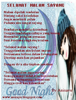 Puisi Selamat Malam Sayang 2014