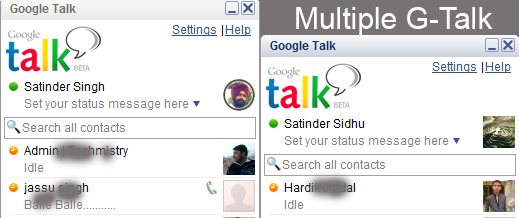 Multiple Google Talk