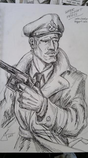 blake mortimer bristol expo sketch