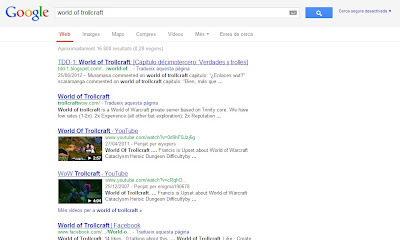 Búsqueda de Google: world of trollcraft