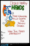 Hand Washing messages by school children