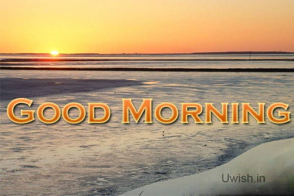 Good Morning  e greeting cards and wishes, quotes with  beautiful sunrise.