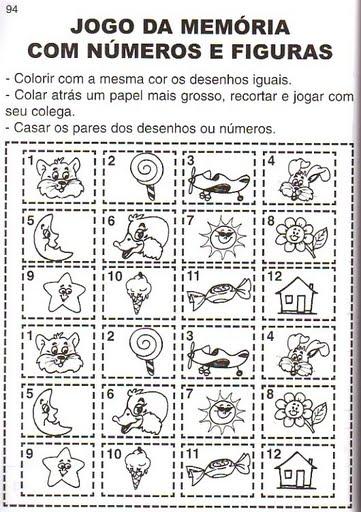 a desenhar Jogos de Memoria colorir