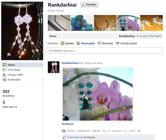 Rankdarbiai Facebook'o profilis