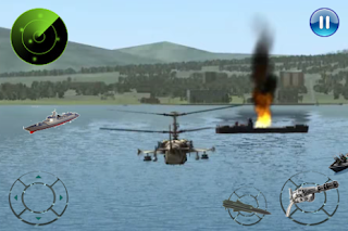 Screenshots of the Gunship Helicopter War for Android tablet, phone.