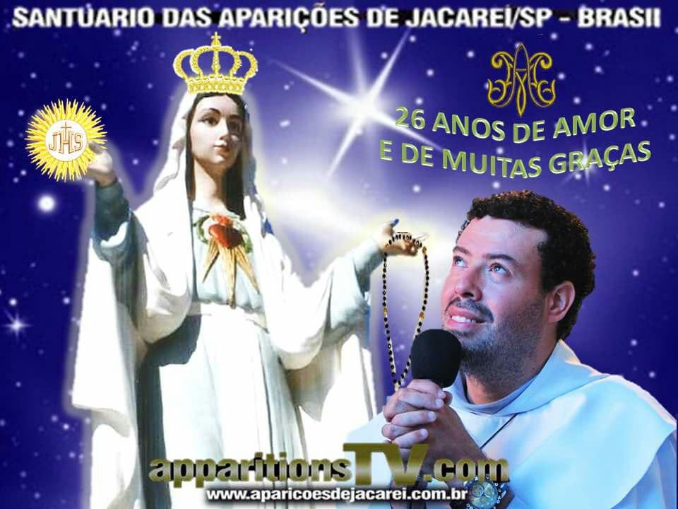 FESTA DOS 26 ANOS DAS APARIÇÕES DE NOSSA SENHORA RAINHA E MENSAGEIRA DA PAZ EM JACAREÍ