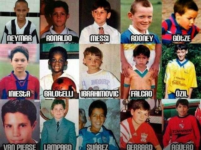Todos fuimos chicos alguna vez y, obviamente, las estrellas de este mundial también. Mención especial a la foto de Iniesta y su tupida cabellera.