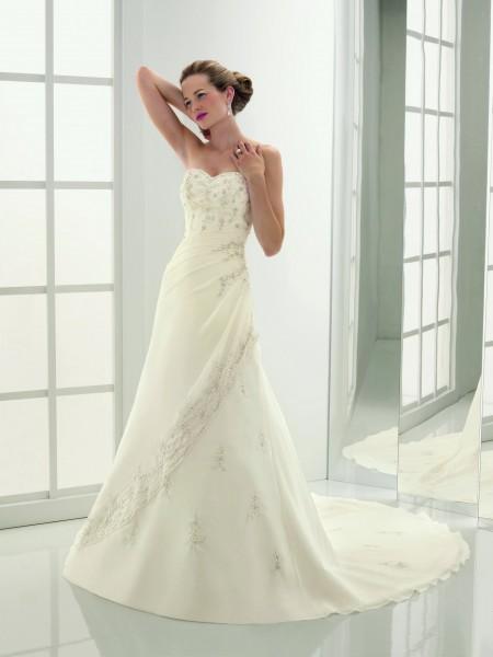 vestidos de novia baratas: de color blanco, vestidos de novia la