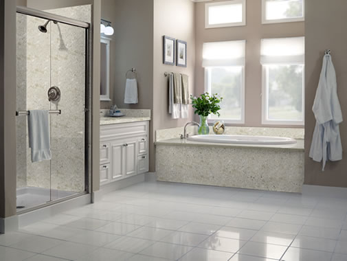 Steel Lily Design: Solid Surface Shower Surrounds