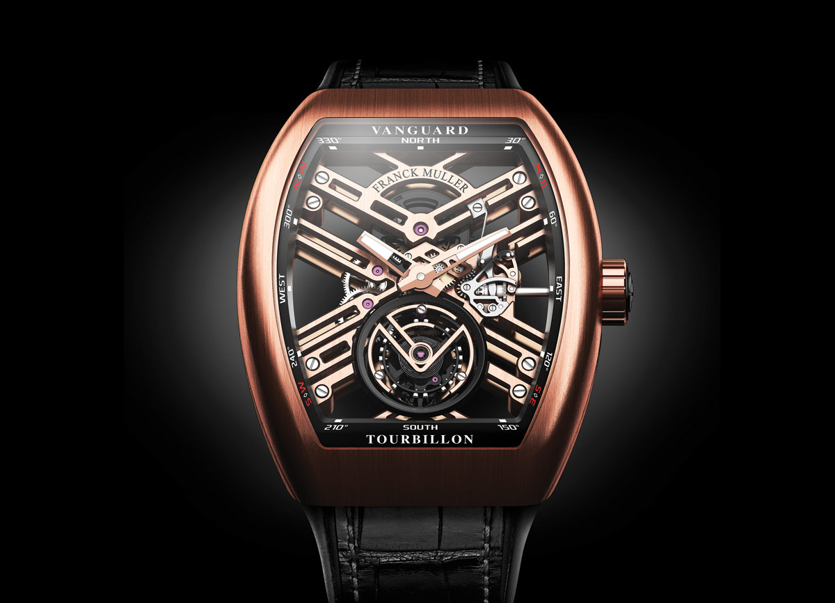 Franck muller vanguard skeleton tourbillon and vanguard grande date time and watches for Franck muller watches
