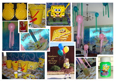 Homemade spongebob decor