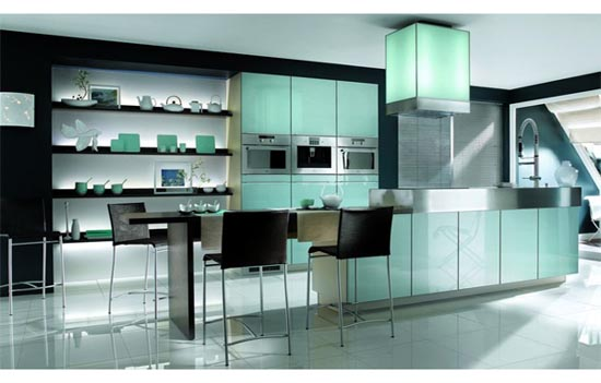 Glass Kitchen Cabinets