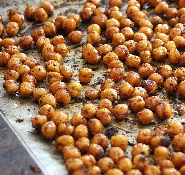 Once cooled, place roasted chickpeas in a bowl or serving dish of ...