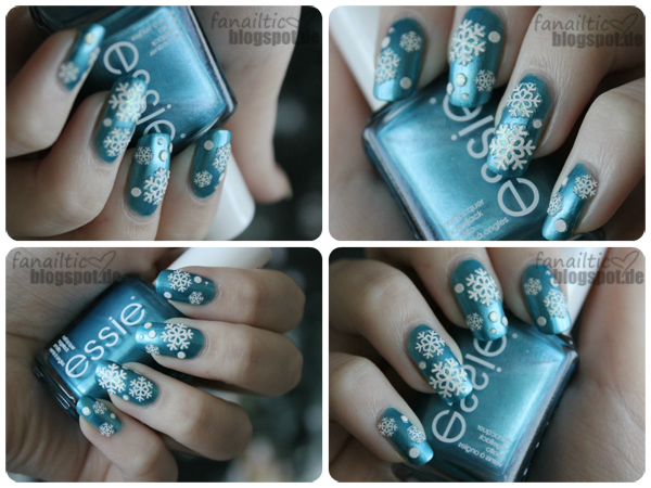 essie beach bum blue schneeflocken winter nailart